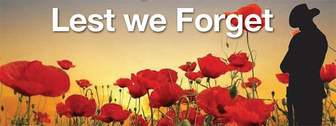 At the going down of the sun, and in the morning, we will remember them. Lest we forget. Poem.